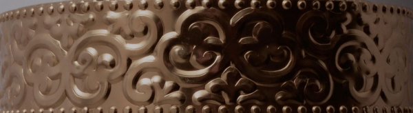 Aluminium wire oriental embossed 30x0,5mm 2m chocolate