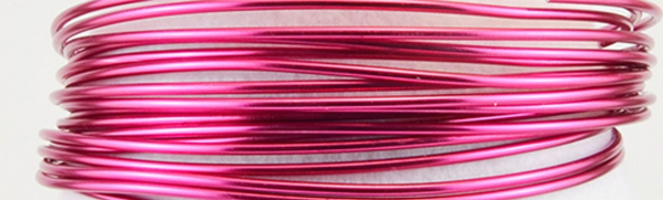 Aluminium wire 500g +/-60m 2mm strong pink