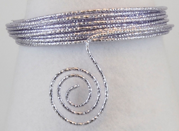 "Aluminium wire ""Hammer"" 500g +/-60m 2mm soft lilac"