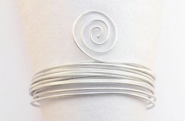 Aluminium wire embossing 3m 3mm silver