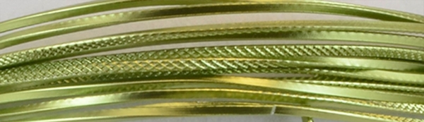 Aluminium wire triangle embossed 2,8mmx5m apple green
