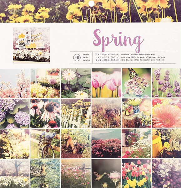 American Crafts paper pad 30,5x30,5cm x48 photo real spring
