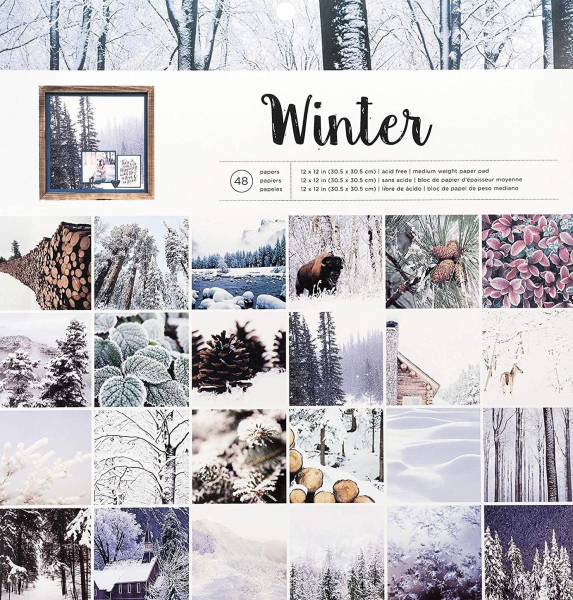 American Crafts paper pad 30,5x30,5cm x48 photo real winter