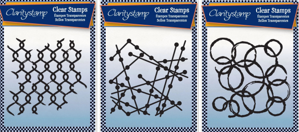3er Set - Chain Link + Particle + Rings A6 Unmounted Stamp