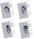 4er Set Tina's Wild Flower + Meadow + Daffodil + Poppy Flower Spray A5 Stencil