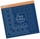 Birthday Ribbon Lace Duet A4 Square Groovi Piercing Grid