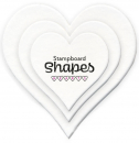 Clarity Stampboard Shapes - Heart