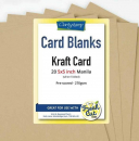 "Kraft Card Blanks 5"" x 5"" x20"