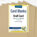 "Kraft Card Blanks 8"" x 8"" x20"