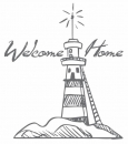 Welcome Lighthouse Mini Clear Stamp