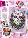 Sequin Art • Craft teen flower skull