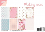 Joy!Crafts • papierset A4 12 vel wedding roses
