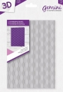 "Gemini 5"" x 7"" 3D Embossing Folder - Seamless Wave"
