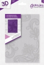 "Gemini 5"" x 7"" 3D Embossing Folder - Contemporary Lace"