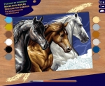 Sequin Art • Senior painting by numbers wild horses