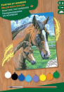 Sequin Art • Junior painting by numbers horse and foal