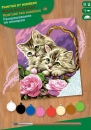 Sequin Art • Junior painting by numbers floral kittens