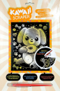 Sequin Art • Kawaii artfoil gold dog