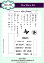 Creative Expressions • Celebration A5 clear stamp set