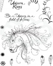 Creative Expressions • Pink ink A5 clear stamp unicorn