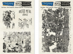 Rusted Metal - Grunge Mixed Impressions Unmounted Stamps